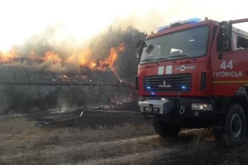 El presidente controla la situación con la extinción de incendios en las regiones de Járkiv y Lugansk