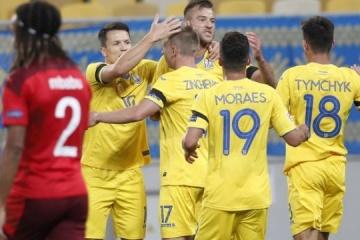 La selección de Ucrania derrota a la selección de Suiza en la Liga de las Naciones de la UEFA