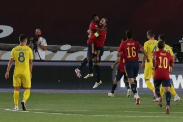Spain hammers Ukraine in Nations League