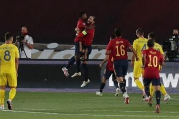 Ucrania pierde ante España en la Liga de las Naciones de la UEFA