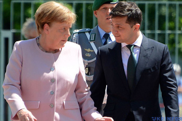 Zelensky, Merkel discuss security situation in Donbas