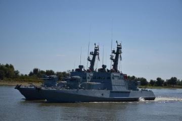 Ukrainian-Romanian exercises held on Danube River
