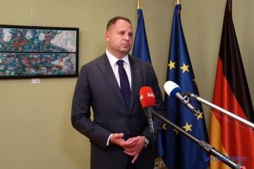 ウクライナ大統領府長官、和平計画案が現在審議されていると発言