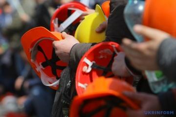 Bergleute aus Krywyj Rih kündigen einen unbefristeten Streikposten in Kyjiw an