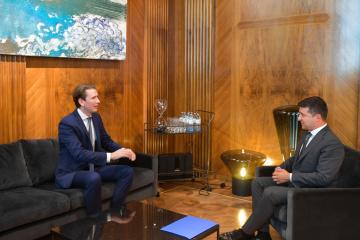 ゼレンシキー大統領、クルツ・オーストリア首相と会談