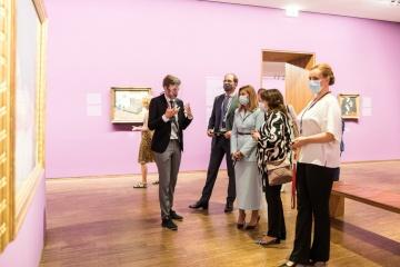 Olena Zelenska visita la Albertina en Viena