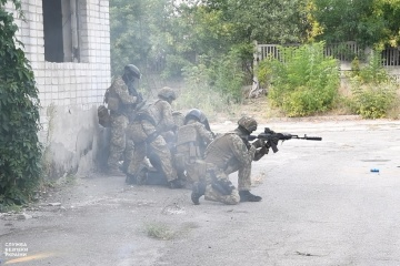 SBU conducts anti-terrorist exercises in Donbas
