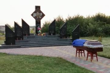 リヴィウ州にて戦死軍人の告別式開催