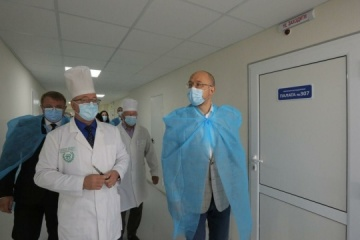 PM Shmyhal visits Sumy Regional Hospita