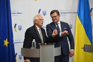 ウクライナがIMFと協力すればEUは12億ユーロを供与=ボレルEU上級代表、法の支配強化呼びかけ