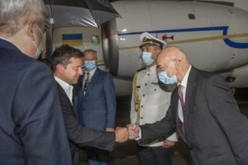 President Zelensky starts his visit to Slovakia