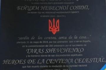 Ucrania se dirigirá al Exteriores español por los vándalos que pintaron la lápida en homenaje a Tarás Shevchenko