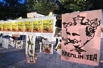 Акція Stop Putin's Terror: у Берліні перед посольством РФ організували флешмоб
