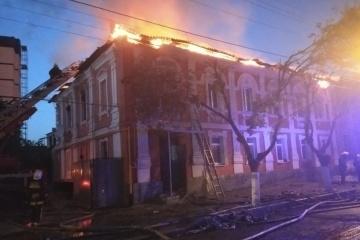 Feuer in einem Wohnhaus in Charkiw: zwei Menschen sterben