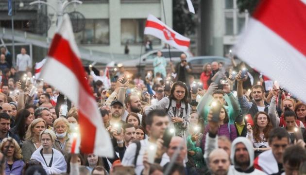 На центральному проспекті Мінська знову зібрались демонстранти