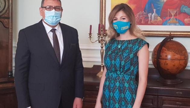 Джапарова обговорила з послом Палестини протидію спробам легалізації окупації Криму та ОРДЛО