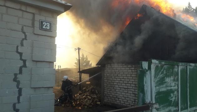 На Харківщині через масштабну лісову пожежу евакуюють жителів