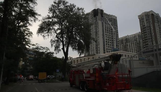 Пожар в киевской высотке ликвидировали, один человек погиб
