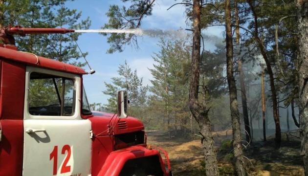 Пожар на Луганщине: продолжают тушить три очага