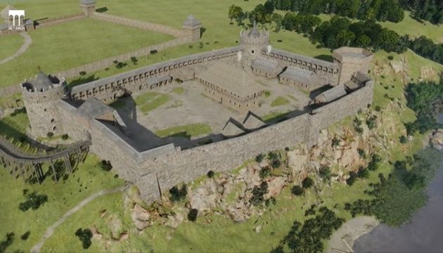 ジトーミル州の17世紀の城塞 3Dで再現