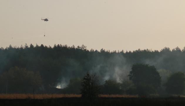 Лісові пожежі на Харківщині: відкритого вогню біля Гороб'ївки не спостерігається