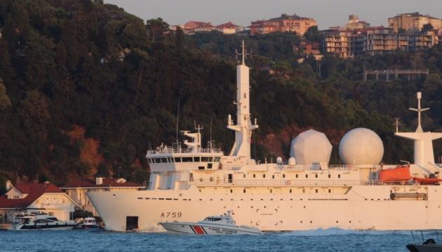 French reconnaissance ship Dupuy de Lome enters Black Sea