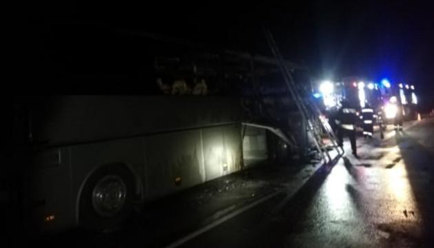 В Болгарии загорелся турецкий автобус с туристами