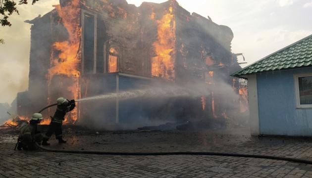 В Донецкой области горела церковь Московского патриархата, тушили более трех часов