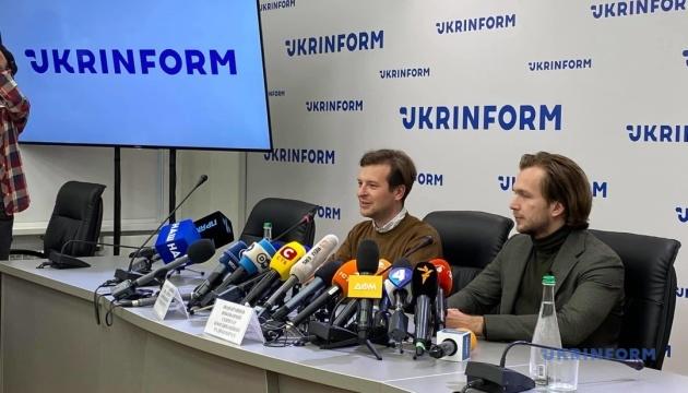 Пресс-брифинг белорусских оппозиционеров Родненкова и Кравцова в Укринформе