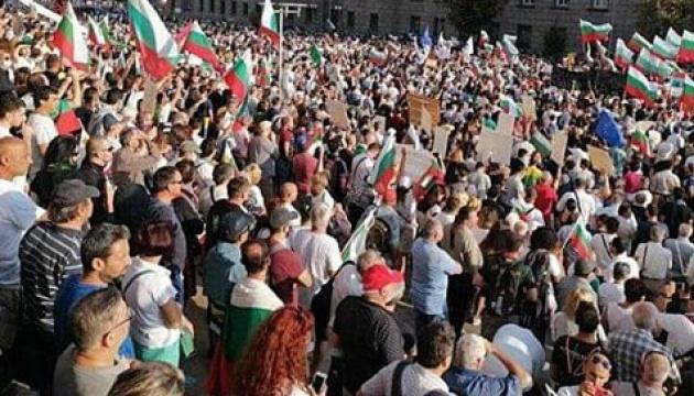 В Болгарии на антиправительственный протест вышли тысячи людей