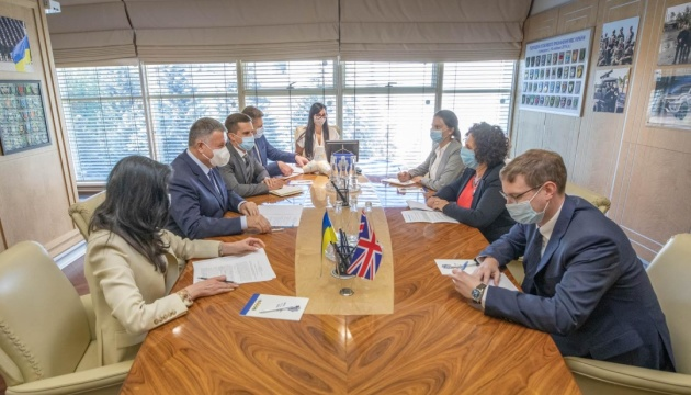 Avakov, British ambassador discuss fight against cybercrime and rehabilitation of veterans