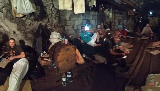 На Криворожском железорудном девятые сутки бастуют горняки: под землей 257 человек