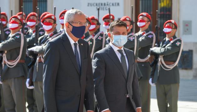 Президенты Украины и Австрии проводят переговоры тет-а-тет
