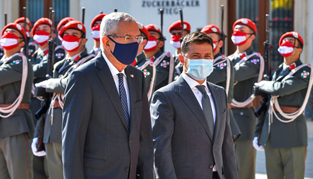 Presidentes de Ucrania y Austria se reúnen cara a cara