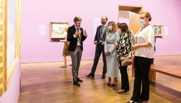 Елена Зеленская в Вене посетила художественную галерею Альбертина