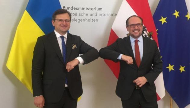 Глави МЗС України і Австрії обговорили розвиток бізнес-проєктів в інфраструктурі