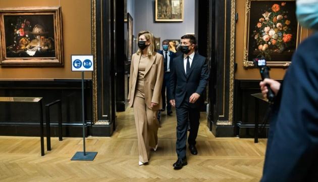 Зеленский с женой посетили торжественный запуск аудиогида на украинском в венском музее