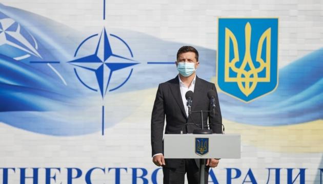 Зеленский приехал на Львовщину, где стартуют учения Rapid Trident-2020