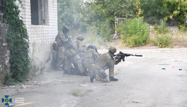 СБУ провела антитеррористические учения в прифронтовом Рубежном