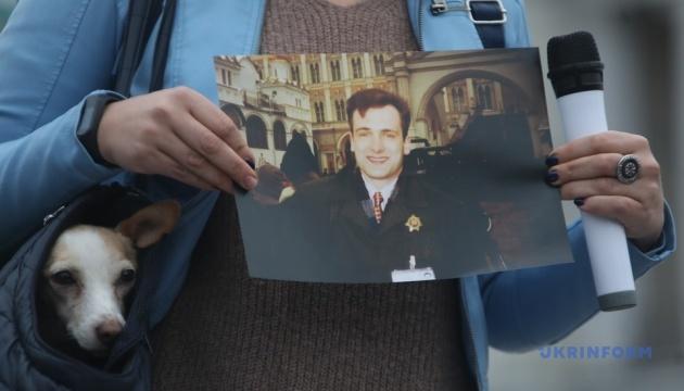 На Майдане прошла акция памяти Гонгадзе