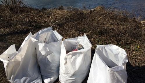 На Прикарпатье с берегов реки вывезли прицеп мусора
