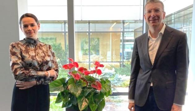 У МЗС Латвії розповіли Тихановській про підтримку громадянського суспільства Білорусі