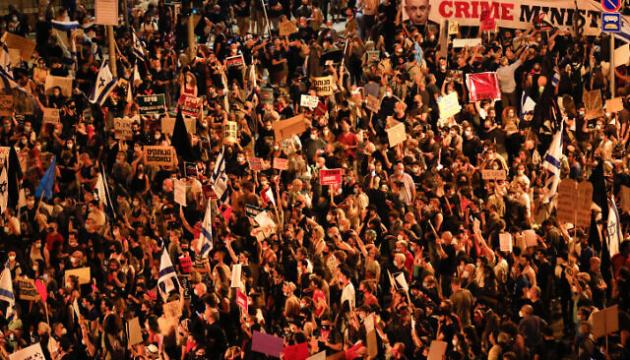 Тысячи израильтян протестовали у резиденции Нетаньяху