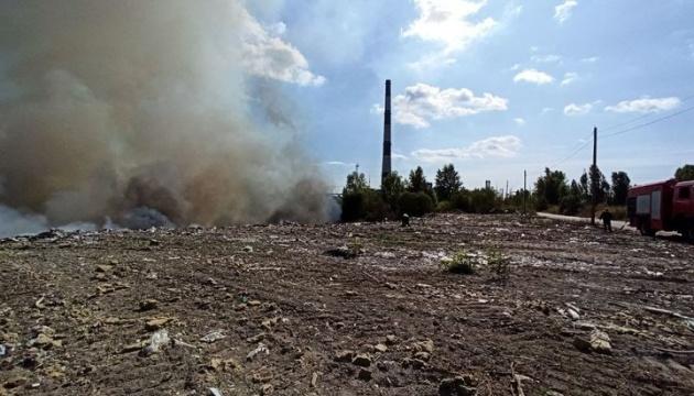 Левый берег Киева накрыл едкий смог - горит свалка