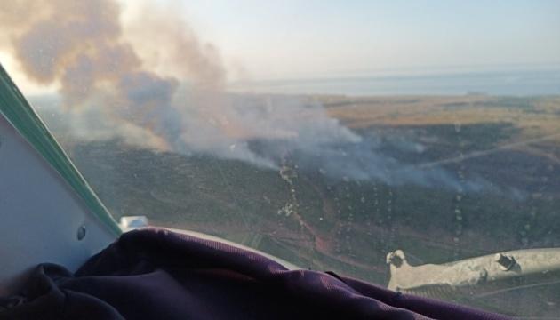 Лесной пожар на Херсонщине: спасатели продолжают тушить отдельные очаги тления