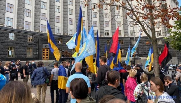 Студенты и преподаватели Олимпийского колледжа митингуют под Кабмином