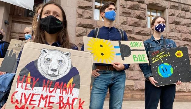 In Kyjiw findet ein Klimastreik statt