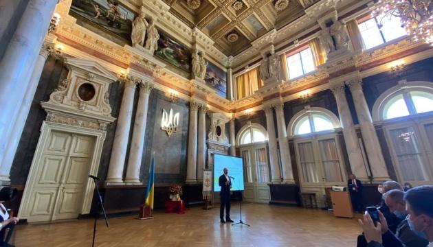 Шмыгаль принял участие в открытии отреставрированных памятников Львовской политехники