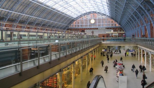 На лондонском вокзале работы