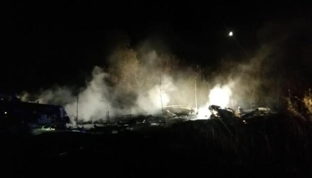 Обстоятельства катастрофы военного самолета на Харьковщине выяснит госкомиссия
